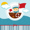 Baby boy sailor vector illustration Stock Images