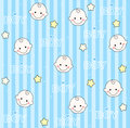 Baby boy seamless pattern Royalty Free Stock Photography