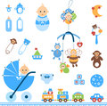 Baby Boy Set Royalty Free Stock Photo