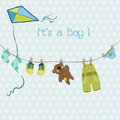 Baby Boy Shower or Arrival Card Royalty Free Stock Photos