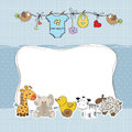 Baby boy shower card Royalty Free Stock Photo