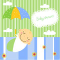 Baby boy shower illustration of Stock Photography