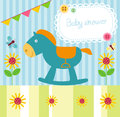 Baby boy shower illustration of Royalty Free Stock Images