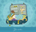 Baby Boy Sleeping in Suitcase Royalty Free Stock Images