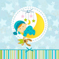 Baby boy sleeping vector illustration Stock Image