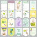 Baby Boy Tags. Baby Banners. Scrapbook Labels. Cute Cards