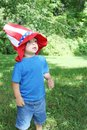Baby boy wearing 4th of July hat Royalty Free Stock Image