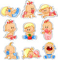 Baby boys and baby girls,vector Royalty Free Stock Photography
