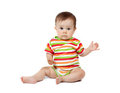 Baby in the bright clothes Royalty Free Stock Image
