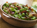 Baby Broad Beans and Ham- Jamon au Favas Royalty Free Stock Photo