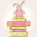 Baby Bunny Shower or Arrival Card