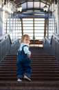 Baby in business building Royalty Free Stock Photography