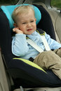 Baby in car seat Stock Photo