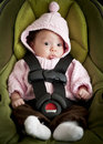 Baby in car seat Royalty Free Stock Image