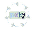 Baby card or cover. Collection of vector templates for scrapbooking, congratulations, baby shower invitations, birthday
