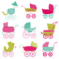 Baby carriage background your design scrapbook Stock Image