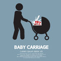 Baby carriage sign vector illustration Stock Photos