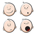 Baby cartoon face Stock Images