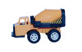 Baby cement mixer on white background plastic Royalty Free Stock Image