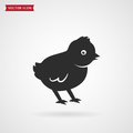 Baby chick icon. Royalty Free Stock Photo
