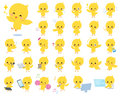 Baby chick yellow bird Royalty Free Stock Photo