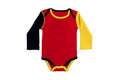 Baby clothes germany long sleeves in german colors on white background Stock Photography