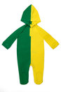 Baby clothes hoody brazil long sleeve in brazilian colors on white background Royalty Free Stock Photo