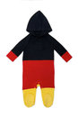 Baby clothes hoody germany long sleeve in german colors on white background Stock Image