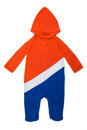 Baby clothes hoody holland long sleeve in dutch colors on white background Royalty Free Stock Photo