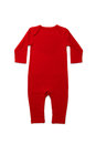 Baby clothes red long sleeve in on white background Stock Photography