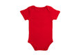 Baby clothes red short sleeve in on white background Stock Images
