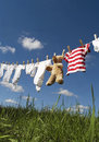 Baby clothing on a clothesline Royalty Free Stock Photography