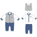 Baby cloths, baby boy outfit- elegant shirt, pants and vest
