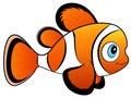 Baby Clown Fish Vector Illustration Royalty Free Stock Photo