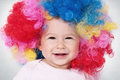 Baby clown portrait of with big smile Royalty Free Stock Photos