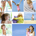 Baby collage Royalty Free Stock Photography