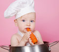 Baby cook Stock Images