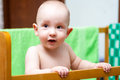 Baby cot lovely is in a Stock Photography