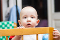 Baby cot lovely is in a Royalty Free Stock Photography