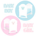 Baby cot two cots for a boy and for a girl Stock Images