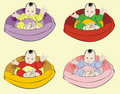 Baby in cradle patterns Stock Photography