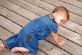 Baby Crawling 2, Royalty Free Stock Photo