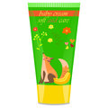 Baby cream tube with kids design