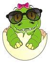Baby crocodile girl Royalty Free Stock Photo
