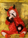Baby devil Stock Image