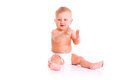 Baby in diaper Stock Image