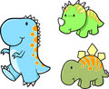 Baby Dinosaur Vector Set Royalty Free Stock Photo
