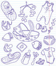 Baby doodles Stock Photos