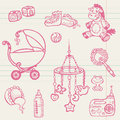 Baby doodles - Hand drawn collection Stock Photography