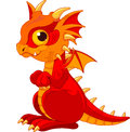 Baby dragon illustration of cute cartoon Royalty Free Stock Photo